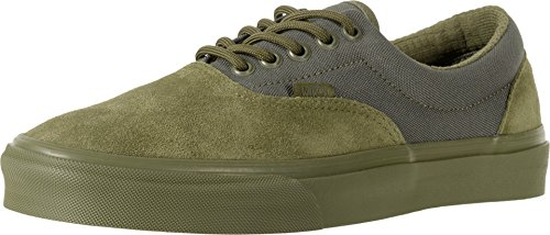 Vans Unisex Era Skateboard Shoes ((Military Mono) Winter Moss, 12 Men/13.5 Women M US)