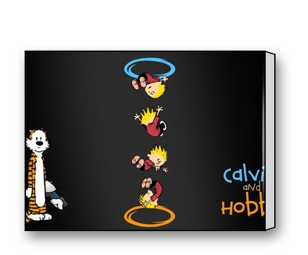 Crossover Jewel (PrettyLee Custom Modern Wall Art Home Decor Canvas Prints Calvin And Hobbes Portal Crossover 16 X 12 Inch)