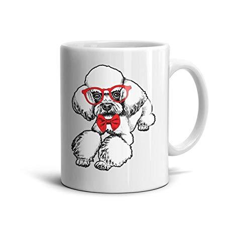 Go Hps2 White Mugs,11 OZ Cute Poodle Dog