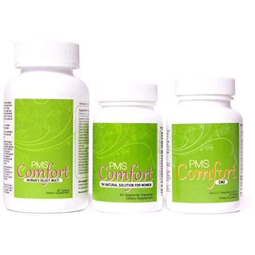 PMS Comfort: Mood Support Program (PMS Herbal, CMZ & Multi) for PMS & PMDD Symptoms (150 ct)