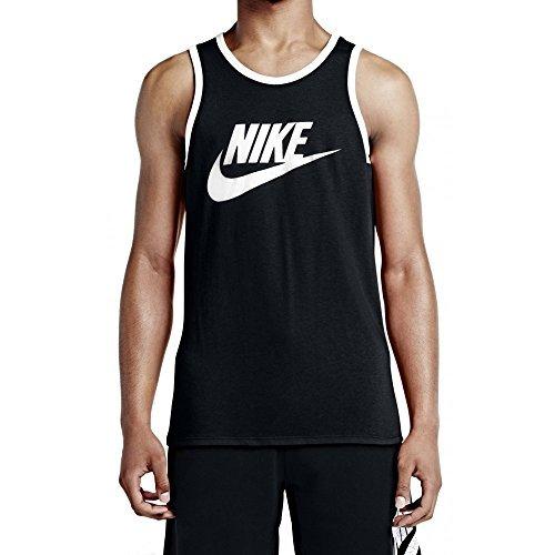 Nike Men's Ace Logo Tank Top Black/White/White LG Nike Classic Logo Tee