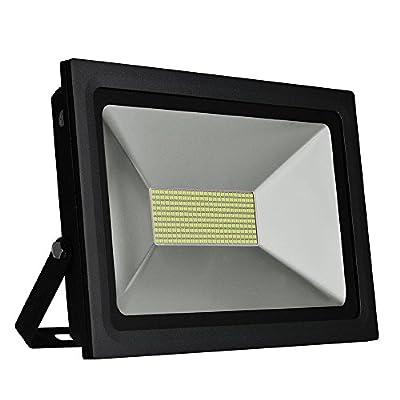 Solla 100W LED Flood Light Outdoor Security Lights, 8600 LM, Daylight White (5500-6500K),480LEDs, Super Bright Floodlight Waterproof Spotlight Outdoor Landscape Wall Lights