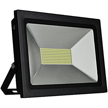 Solla 100W LED Flood Light Outdoor Security Lights, 8600 LM, Daylight White  (5500 6500K),480LEDs, Super Bright Floodlight Waterproof Spotlight Outdoor  ...