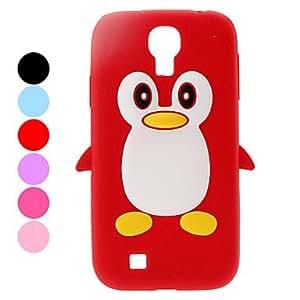 CECT STOCK Protector del caso del patrón TPU suave del pingüino para Samsung Galaxy S4 i9500 (colores surtidos) , Púrpula