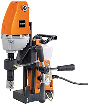 "Jancy Holemaker II Portable Magnet-Base Drill, 120V, 11.5 Amp Motor, 1-3/8"" Diameter x 2"" Depth Capacity"