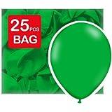 Globos de látex para bodas verde hoja 25 x 12 pulgadas (63x30 cm)