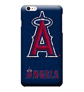 iPhone 6 Plus Case, MLB - Los Angeles Angels- Alternate Solid Distressed - iPhone 6 Plus Case - High Quality PC Case