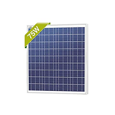 Newpowa 75w 12v Solar Panel High Efficiency Poly Module Rv Marine Boat Off Grid