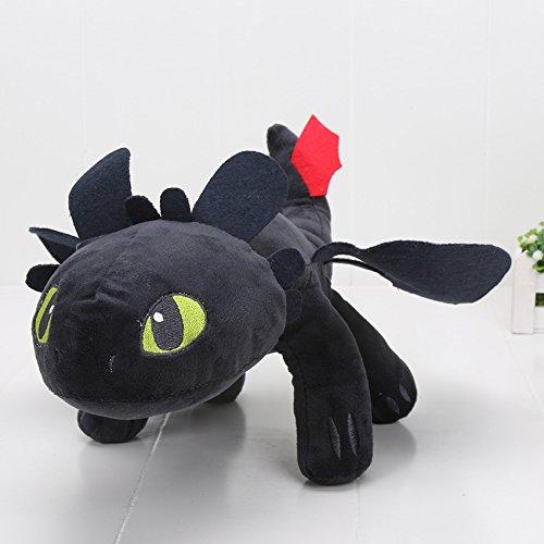 VANVENE How to Train Your Dragon Toothless Night Fury Stuffed Animal Plush Toy Doll (Medium-13)