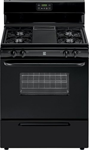 - Kenmore 73039 4.2 cu. ft. Freestanding Gas Range with Broil and Serve Drawer, Black