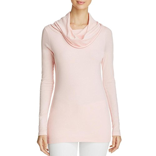 Three Dots Womens Cowl Neck Solid Tunic Top Pink (Three Dots Long Sleeve Tunic)