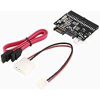 PandaCfee Adaptador de convertidor IDE a SATA/SATA a IDE de 40 Pines portátil para Disco Duro HDD CD DVD Adaptador 1.5 Gbps 150 MB/s