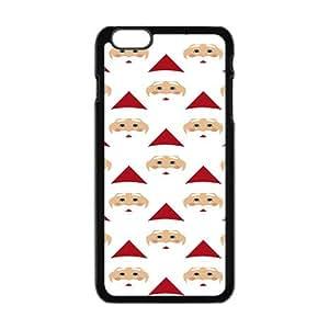 Cartoon Artistic Santa Claus Black Phone Case for Iphone6 plus