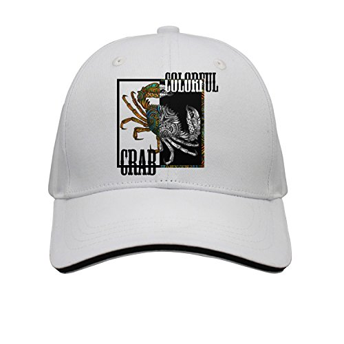 jrw5dfg498p Cap Colorful Crab Tattoos Crabs Snow Crab Unisex Cap Cute Stylish Casual Simple Funny Personality Fashion Travel Essential