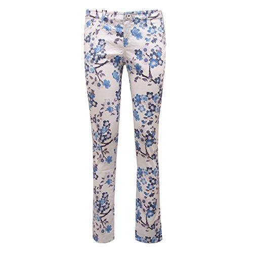 8951U Pantalone Donna 5 Tasche Armani Jeans Pant Trouser Woman Bianco/Fantasia