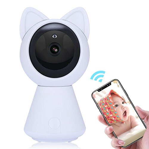Cat HD IP Camera, YIku Home Security Camera Baby Monitor 1080P & 2.4GHz Indoor Dome Camera Pet monitor with Two Way Audio, Night Vision, Motion Alarm