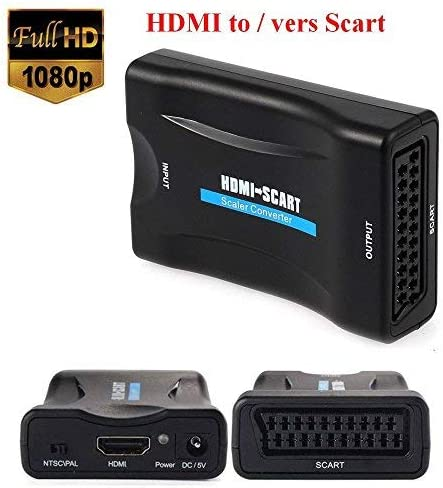 Emebay - Euroconector, 1080p, HDMI a SCART, CRT, TV, VHS VCR, DVD soporte NTSC PAL: Amazon.es: Electrónica