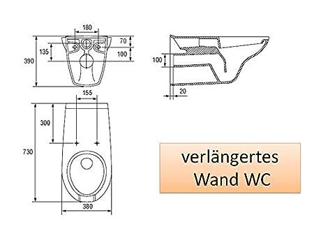 Abstand Wc Wand verlängertes wand wc weiß tiefspüler best clean