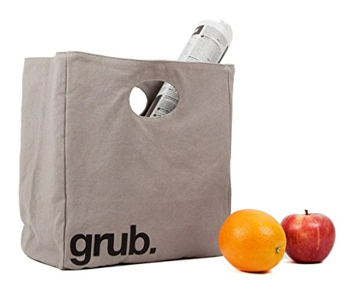 Fluf Big Lunch, Organic Cotton Lunch Bag, Grub