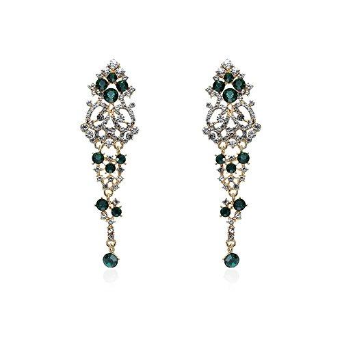 Lureme Women's Shiny Austrian Crystal Rhinestone Chandelier Dangle Earrings (er005735)