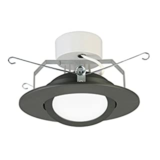Lithonia Lighting 6G1MB LED 30K 90CRI M6 LED Gimbal Recessed Downlight,3000K, 11 watts,6 Inch,Matte Black, Higher Lumen Version