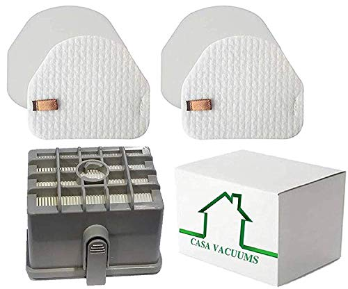 (Casa Vacuums Replacement 2 + 1 Filter Kit for Shark DuoClean Slim Upright Vacuum Filter Kit; Hepa, 2 Foam + 2 Felt Filters; fits NV200, NV200C, NV200Q, NV201, NV202, NV202C; XFF450 & XHF450)
