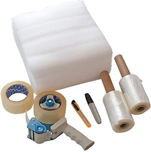 Packing Tape Moving Kit and Supplies with Shipping Tape Gun Dispenser 2 Rolls 2