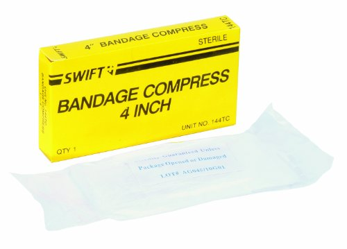 (North by Honeywell 35144TC Bandage Compress, 4-Inch, 1 per)