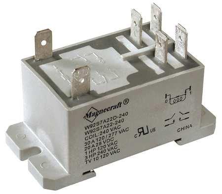 Amps 2 Poles 120 Coil (Enclosed Power Relay, 6Pin, 120VAC, DPST-NO)