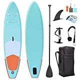 SUP Inflatable Stand Up Paddle Board 120x30x6inch for All Round Touring with Storage