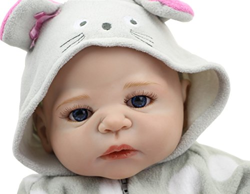 NPK 23 Inch Reborn Baby Dolls That Look Real Full Silicone Vinyl Doll Babies Girl Kids Birthday Gift Free Magnet Pacifier Dummy (23