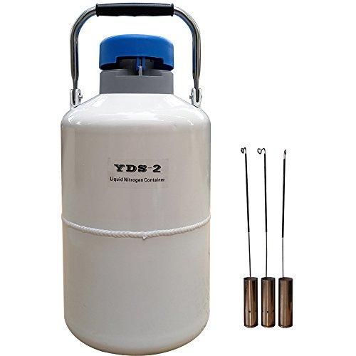 age Tank 2L 30 mm Diameter Semen Dewar Flask 2 Liter with Cover 5 Years Vacuum Guarantee ()