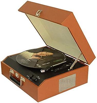 DNAN Reproductor de Discos de Vinilo, fonógrafo Retro de Madera ...