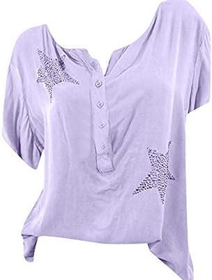 Lukame✯ Camisa de Cinco Puntas Para Mujer Con Botones de Cinco Puntas(Alto,M): Amazon.es: Bricolaje y herramientas
