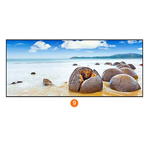 (PLLP Modern minimalist paintings, sea view series bedroom bedside painting, waterproof and moisture-proof home living room decorative painting,A,40120cm)