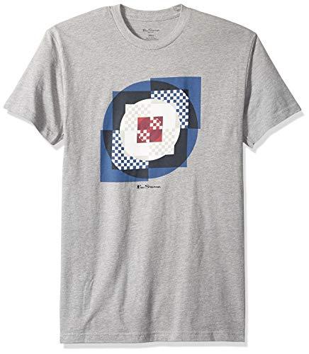 Ben Sherman Men's Square Target Graphic TEE, Heather Grey M