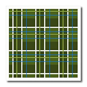 ht_12162_2 Janna Salak Designs Prints and Patterns - Green Plaid Print - Iron on Heat Transfers - 6x6 Iron on Heat Transfer for White Material