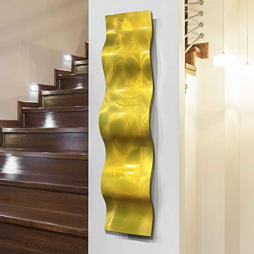 Statements2000 3D Abstract Metal Wall Art Accent Sculpture Modern Yellow Home Decor by Jon Allen, 46