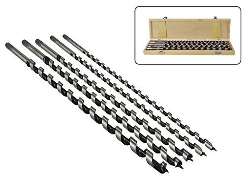 5 teiliges Set Schlangenbohrer 460 mm lang 8mm - 10mm - 12mm - 14mm - 16mm