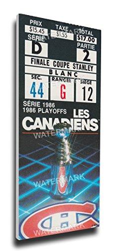 1986 Stanley Cup Mega Ticket Montreal Canadiens HMONMT86SC