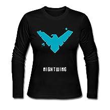 NANAYY Women's Nightwing Minimlist Poster Long Sleeve T Shirts