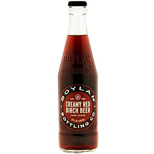 Dutch Birch Beer - Boylan Creamy Red Birch Beer Soda, 12 fl oz (12 Glass Bottles)