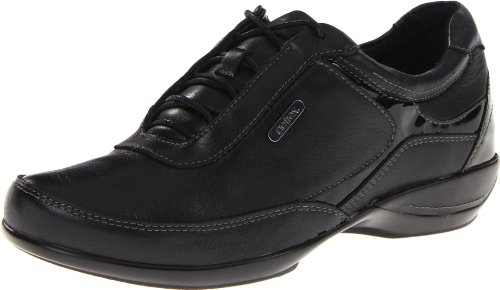 Aetrex Women's Holly Lace-Up Oxford, Black, 9 M