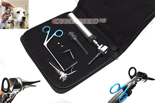 Incredible Professional Veterinary DIAGNOSTIC OTOSCOPE Set KIT+ 2 FREE LED BULB+ MICRO ALLIGATOR FORCEP +FREE CARRYING CASE ( CYNAMED BRAND ) by CYNAMED (Image #9)