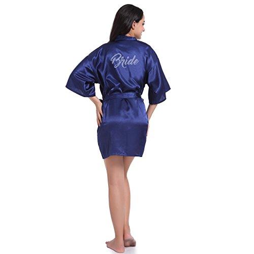 Blu E Pigiami Marino Notte Wysmol Camicie Sposa Da Vestaglie Cristallo Kimono Xqtwxpwz7f