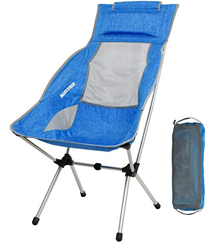 Lightweight Folding High Back Camping Chair with