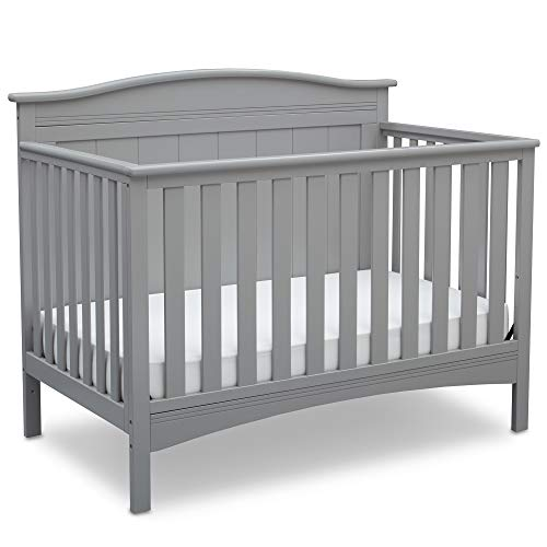 Sale!! Delta Children Bennett 4-in-1 Convertible Baby Crib, Grey