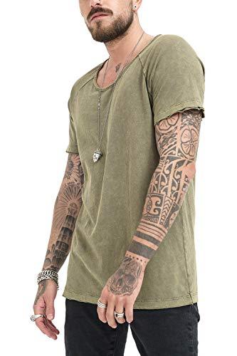 Urban Kaki manica Moda Abbigliamento Casuale amp; Khaki 0629 Slim Vestiti Fit Corta Semplice T 1083166 Classic shirt Trueprodigy Uomo Maglietta Girocollo Uni 0WnAzUYqU