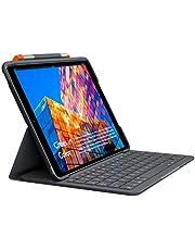 Capa com Teclado Logitech Slim Folio para iPad 7ª geração com Conexão Bluetooth LE e Resistente à quedas, arranhões e respingos.