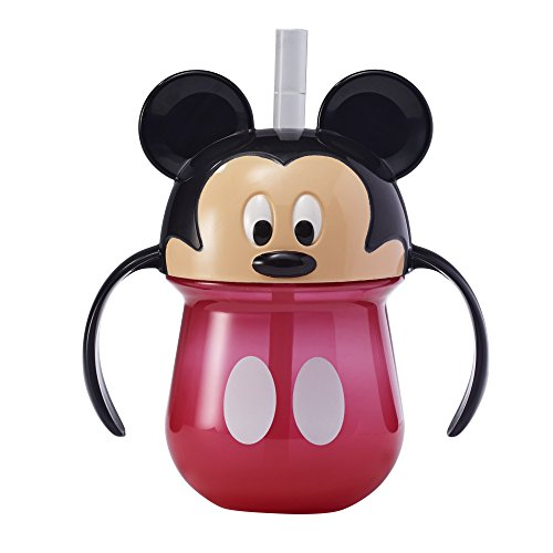 The First Years Disney Baby Trainer Straw Cup with Handles, Mickey